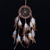 Cheap  Home decor Rattan Dream Catcher with Feathers Rome Wall Hanging Decoration Ornament Brand Dreamcatcher Free shipping