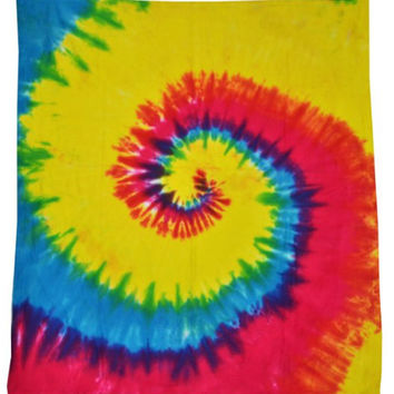 RAINBOW TIE DYE Blanket : Hippie, Rainbow, Themed Bedroom, Spiral Tie Dye, Throw Blanket, Summer, Music Festivals, Coachella