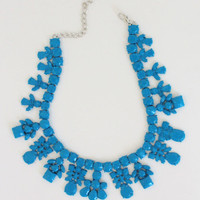 Blue Ceramic Necklace