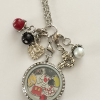 Mickey Mouse - Minnie Mouse Inspired Memory Locket Necklace