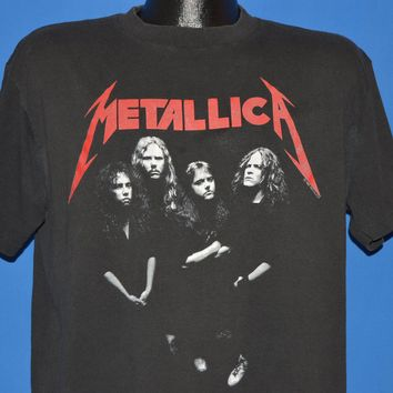 80s Metallica And Justice For All Album Tour t-shirt Large