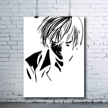 Death Note - Kira - Kira Poster - Light Yagami - Raito - Death Note Poster - Death Note Printables - Death Note Print - Killer Poster
