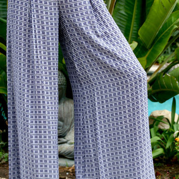 Palazzo Pant In Suzan Blue
