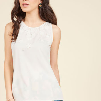 Meaningful Meeting Sleeveless Top | Mod Retro Vintage Short Sleeve Shirts | ModCloth.com
