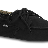 "Indosole ""Prahu"" Boat Shoe - Black"