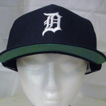 Vintage Deadstock 80s DETROIT TIGERS SNAPBACK Baseball World Series Trucker Style Adjustable Cap Hat