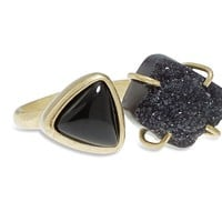 Lucky Brand Double Stone Ring Womens - Gold (7)