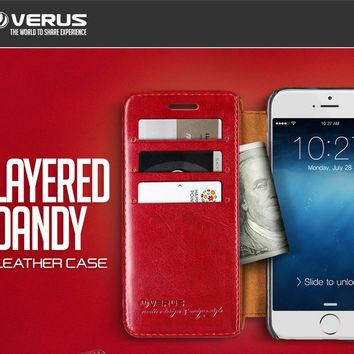VERUS Dandy Layered Wallet Leather Case for iPhone 6, iPhone 6 Plus, Galaxy Note 4