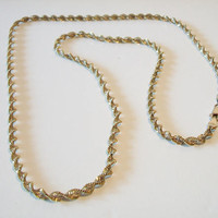 Vintage Twisted Rope Chain Necklace Made In Italy 925 Italian Jewelry