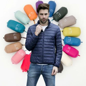 90% Duck Down Men Winter Jacket Coat Warm Parka Men's Jackets Male Coats Man Casual Parkas Light Outwear Brand Clothing 11 Style