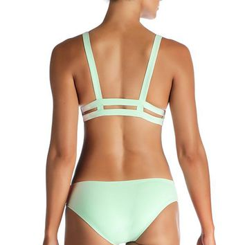 VITAMIN A Glacier EcoLux Emelia Triple Strap Bottom