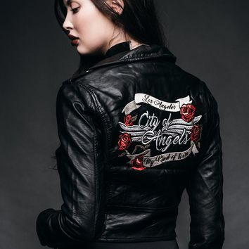 City of Angels Leather Biker Jacket