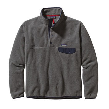 Patagonia Men's Lightweight Synchilla Snap-T Fleece Pullover Nickel Navy Blue