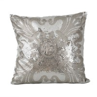 Ludo Sequin Pillow - Silver