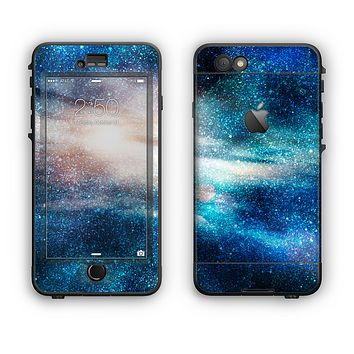 The Blue & Gold Glowing Star-Wave Apple iPhone 6 LifeProof Nuud Case Skin Set