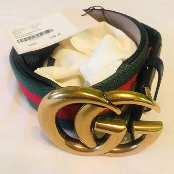 NWT Authentic Gucci Signature belt with G buckle 90cm waist 30/32