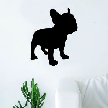 French Bulldog Silhouette Decal Sticker Wall Vinyl Art Home Decor Teen Dog Doggy Puppy Cute Rescue Adopt