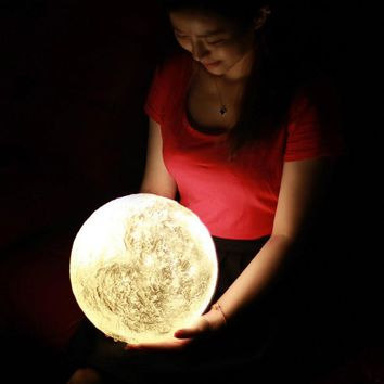 3D Print Moon Lamp with Touch Switch/ Remote control