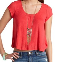 SHORT SLEEVE SWING CROP TOP