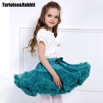 Girls Tutu Skirt Fluffy Children Ballet Kids Pettiskirt Baby Girl Skirts Princess Tulle Party Dance Skirts For Girls