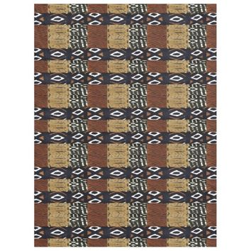 African Tribal Abstract Art Fleece Blanket