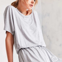 Silence + Noise Slouchy Tee Romper | Urban Outfitters