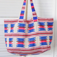 Aztec Embroidered Tote Bag {Multi}