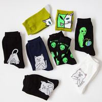 RIPNDIP Lord Nermal Cat Novelty Socks Cotton Harajuku Cats Funny Socks Hip Hop Men Sokken 008w