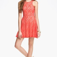 Mimi Chica Sleeveless Lace Skater Dress (Juniors) | Nordstrom
