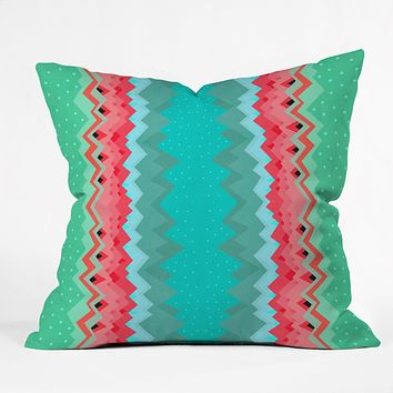Elisabeth Fredriksson Strawberry Field Pattern Throw Pillow
