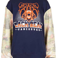 Bear Sweatshirt By Tee And Cake - Tops  - Clothing