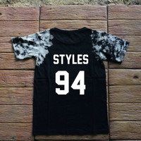 Harry Styles One Direction Tie dye Shirt Tye Dye Shirt Black Shirt