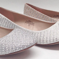 Women's Blossom Baba14 WEDDING PAGEANT Pearl Rhinestone Pointed Toe Dressy Flats Shoes