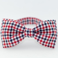Bow Tie by BartekDesign blue red white checkered