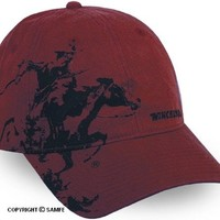 Winchester Horse and Rider Vintage Washed Cap w/ Sweat Band