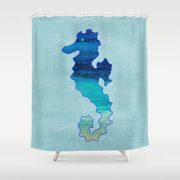 SEAHORSE SEA-NIC Shower Curtain by Catspaws