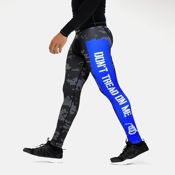 Digi Camo Black Ops Don't Tread On Me Thin Blue Line Tights for men