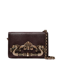 Dolce & Gabbana Burgundy Ginevra Ayers Clutch - Shoulder Bag - ShopBAZAAR