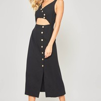 Mandy Midi Dress - Black
