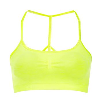 Yama Padded Yoga Bra - CarnivalYellow | Sports Bras | Sweaty Betty
