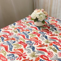 Love Bird Cotton Tablecloth