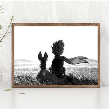 The Little Prince Fairy Movie Posters Print Wall Art Picture Nordic Baby Boy Kids Room Decor Cartoon Canvas Painting