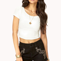 FOREVER 21 Studded Denim Cut Offs Black/Gold