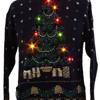 1980's Marisa Christina Womens Lightup Ugly Christmas Sweater