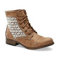SM New York- -Women's Effie Tan/Cream Fashion Boot-Clothing, Shoes & Jewelry-Shoes-Women's Shoes-Women's Boots