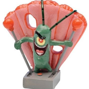 AQUATICS - ORNAMENTS/DECOR - PLANKTON MINI RESIN ORNAMENT - SPONGEBOB - PENN PLAX INC - UPC: 30172040511 - DEPT: AQUATIC PRODUCTS