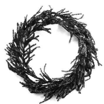 Halloween Black Round Artificial Wreath Wreath