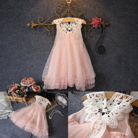 XMAS-Baby-Girls-Party-Dress-Lace-Tulle-Flower-Gown-Formal-Dress-Sundress-2-7Y