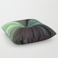 Shades of Green Color Explosion Floor Pillow by Sheila Wenzel
