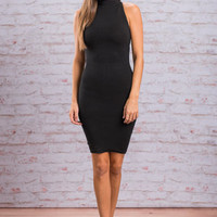 Slim Chance Dress, Black